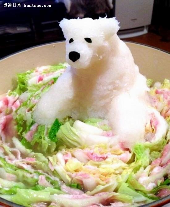 日本职员用萝卜泥做料理 动物造型创意
